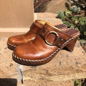 Frye Boots Leather Charlotte Ring Clog/Mules size8